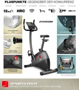Sportstech ESX500 Ergometer Vorteile