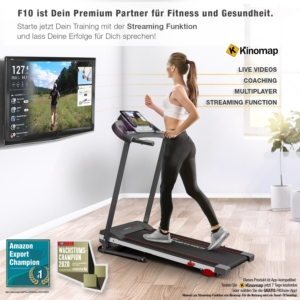 Sportstech F10 Laufband mit Streaming Funktion