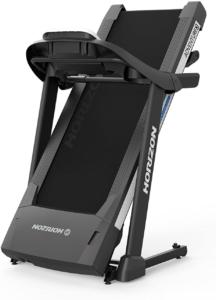 Das Horizon Fitness Laufband Adventure 3 verfügt über einen hydraulischen Klappmechanismus