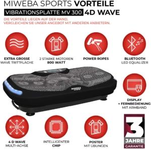 Miweba Sports Fitness 4D Wave Vibrationsplatte MV300 1