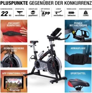 Sportstech Speedbike SX200 Vorteile